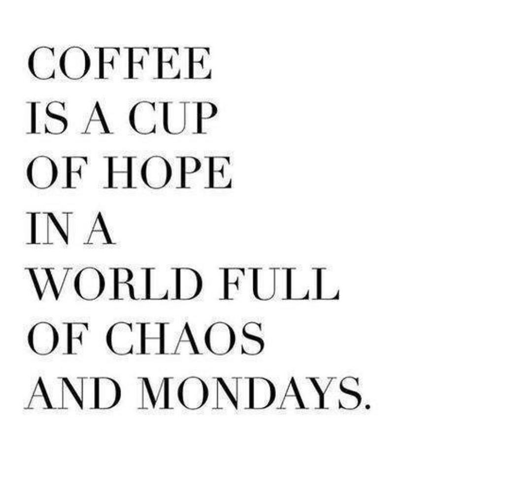 May your coffee …