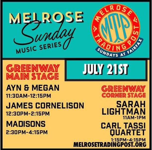 Melrose Sunday Music …