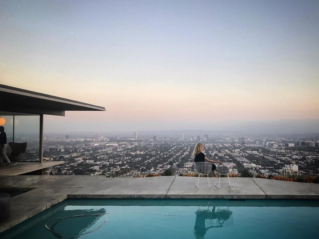 The sunset view from …