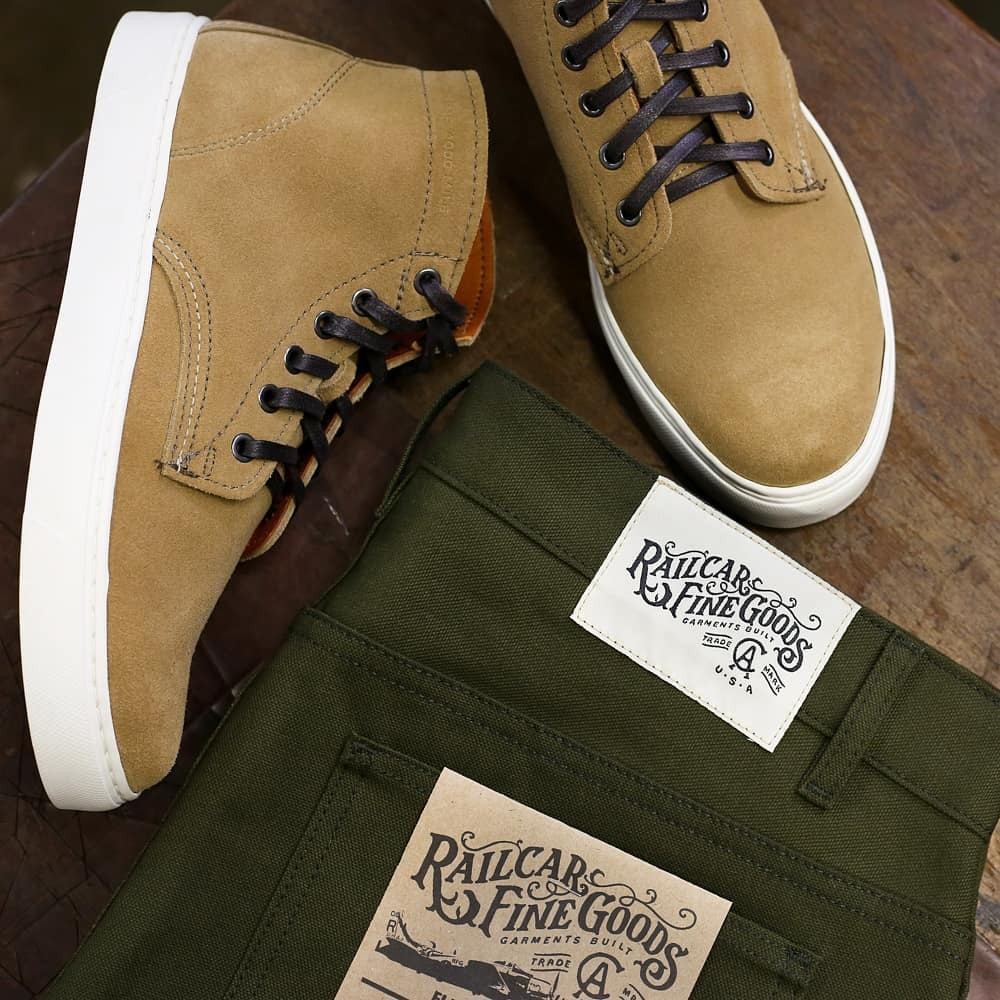 Canvas and suede. …