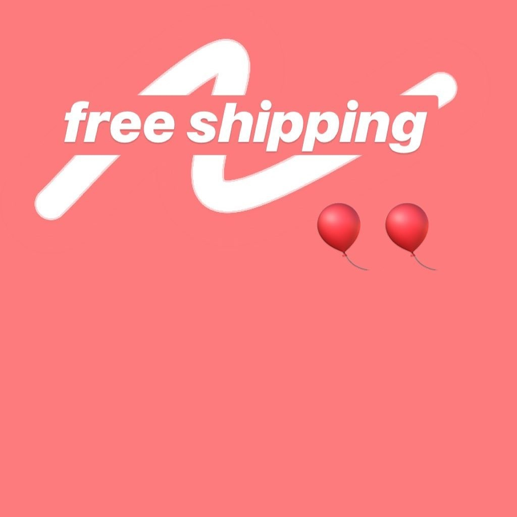 free shipping on all …