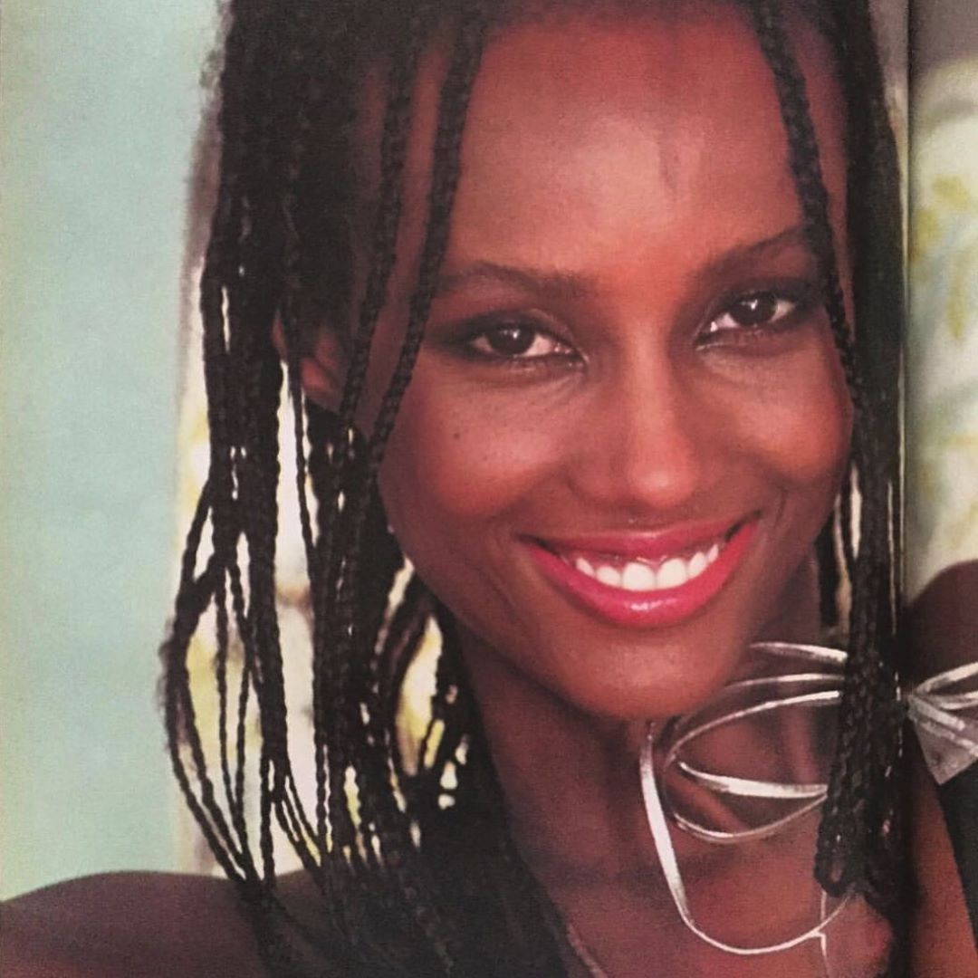 Gorgeous Iman in 1980 …
